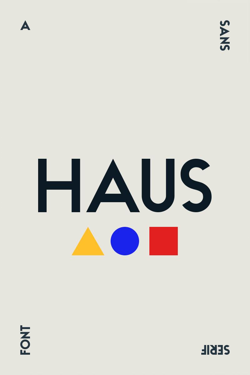 HAUS - Sans Family Font