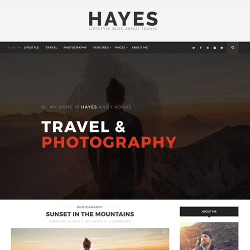 Hayes - Travel Blog - Responsive WordPress Template