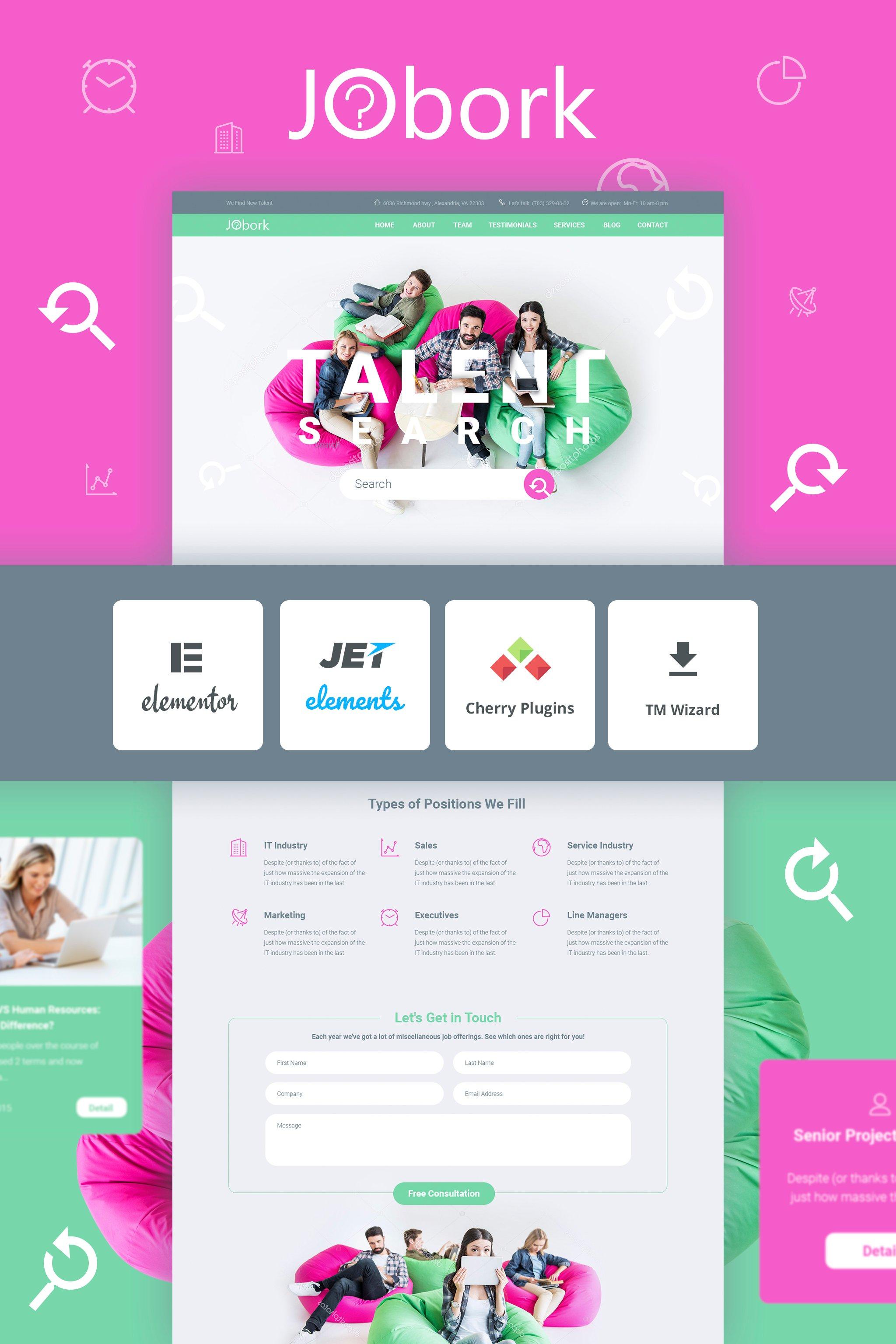 Jobork - Job Portal Template Tema WordPress №65624
