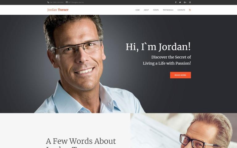 Jordan Turner - Life Coaching WordPress Theme New Screenshots BIG