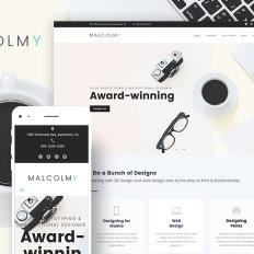 Malcolmy Freelance Designer Personal Portfolio Lite Free Wpml Ready WordPress Template