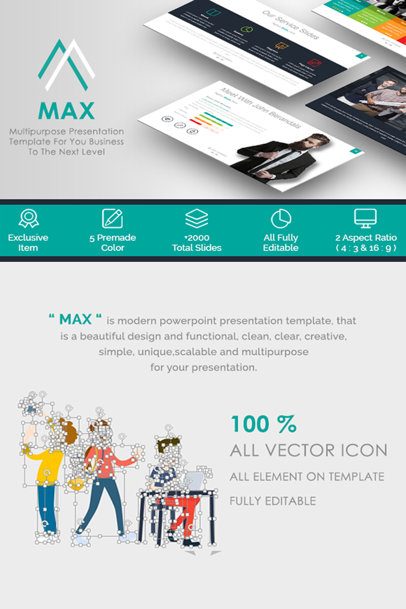 MAX - PowerPoint sablon 65677