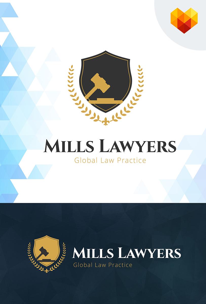 Mills Lawyers Logo Template