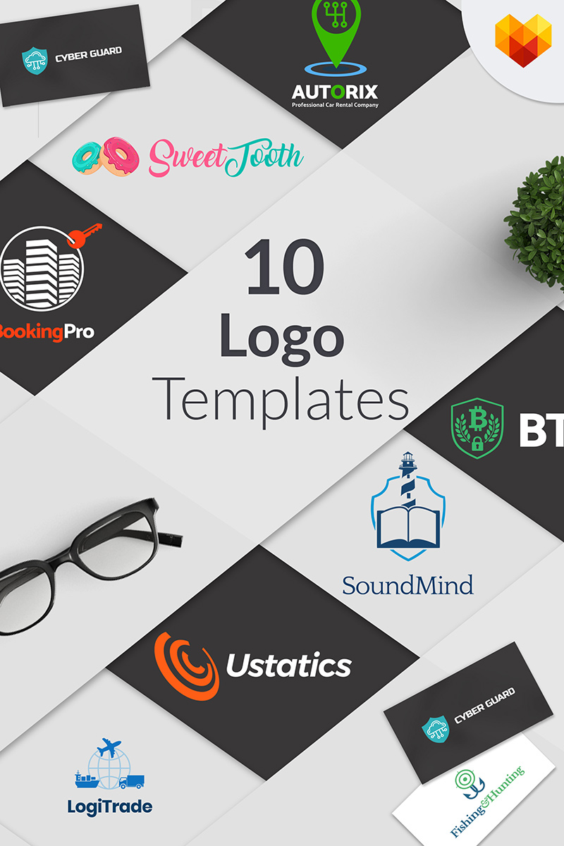 "Modello di Loghi #65600 ""Bundle of 10 Professional Layouts of Ready-to-Use Niche Business"""