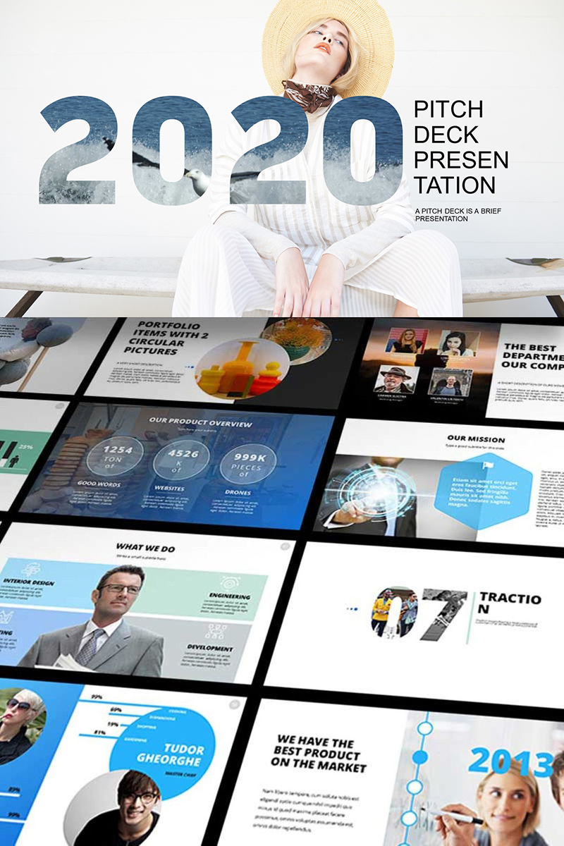 """2019 Pitch Deck"" modèle PowerPoint  #65606"
