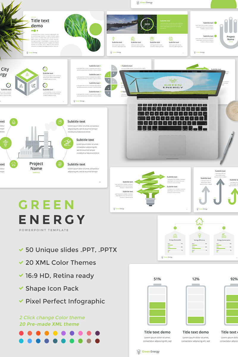 "PowerPoint Vorlage namens ""Green Energy -"" #65675"