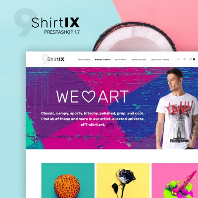 Responsives PrestaShop Theme für T-Shirt Shop