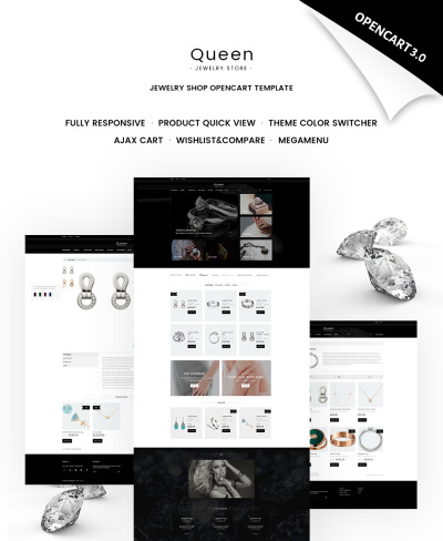 Queen - Jewelry Store OpenCart Template #65649