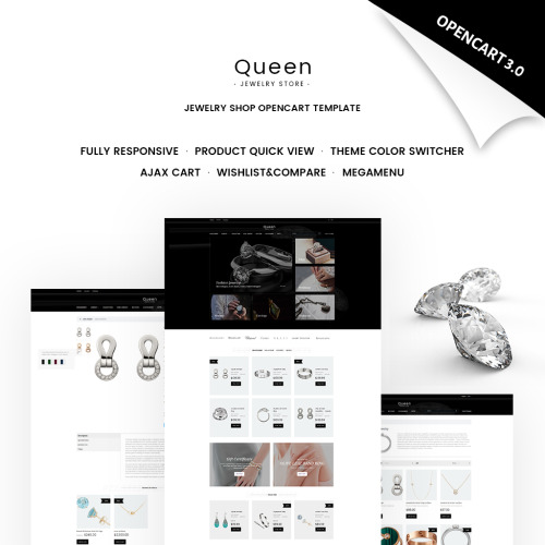 Queen - Jewelry Store - OpenCart Template based on Bootstrap