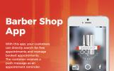 Responsive App Vorlage für Friseursalon