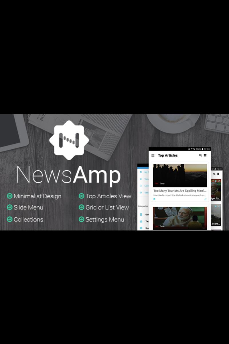 """Responzivní Šablona pro aplikace """"NewsAmp - Android News"""" #65695"""