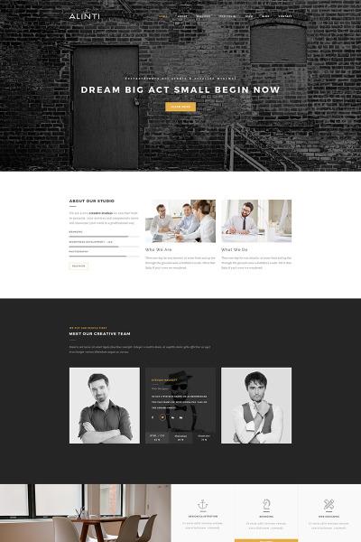 Reszponzív Design portfóliók  WordPress sablon #65693