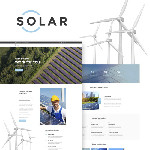 Solar - Alternative Energy Company WordPress Theme - HTML5 WordPress Template