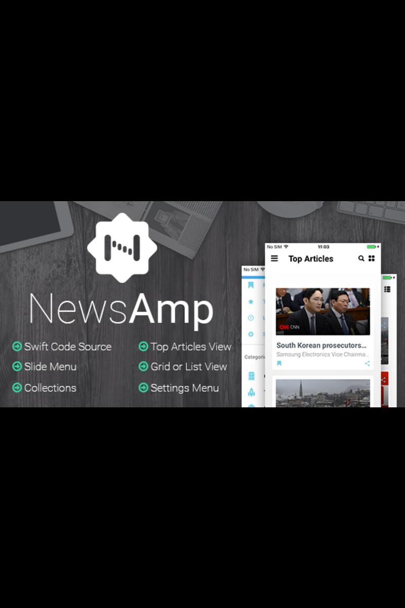 Szablon aplikacji NewsAmp - Swift News #65694
