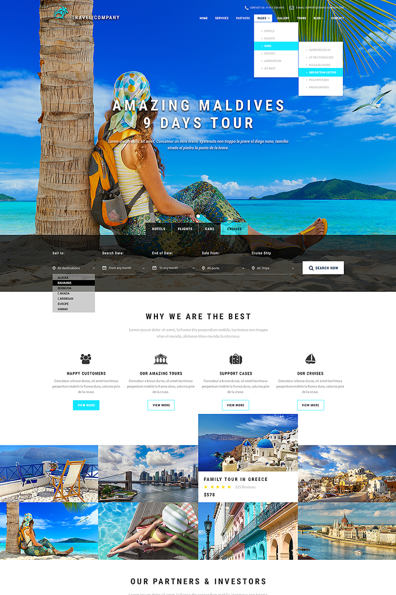 Travel Booking Website Template - screenshot