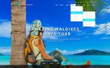 """Website Vorlage namens """"Travel Booking"""""""
