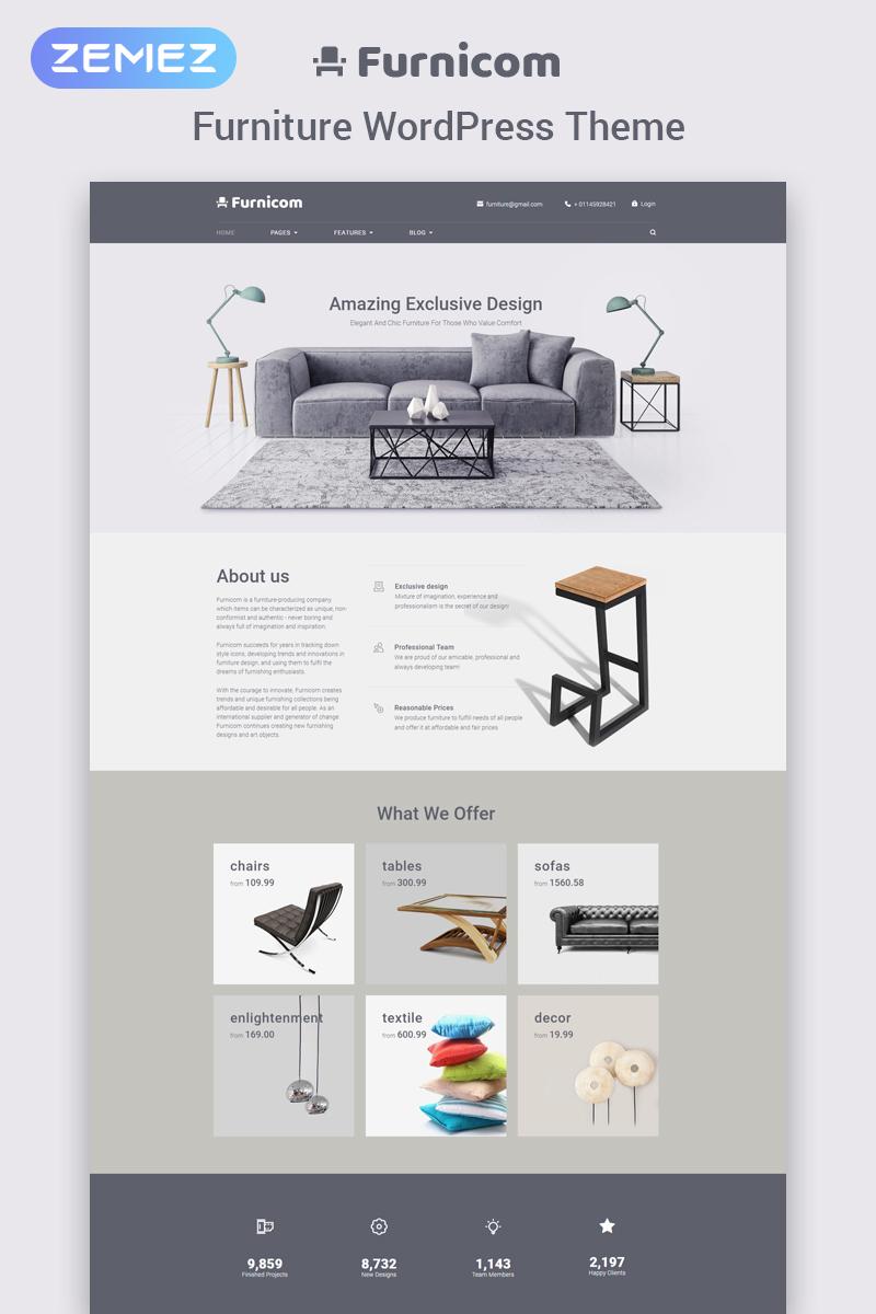 "WordPress Theme namens ""Furnicom - Furniture Store"" #65625"