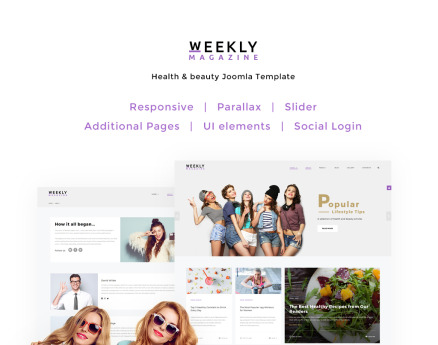 Weekly Magazine - Health & Beauty Joomla Template
