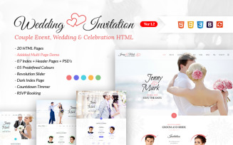 Wedding Invitation - Couple Event & Celebration Website Template