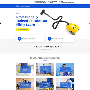 Preview image of Ms. Shine - Cleaning Services Responsive