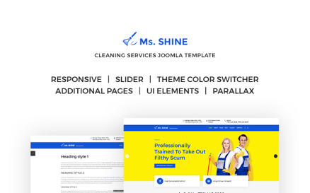 Ms. Shine - Cleaning Services Responsive Joomla Template