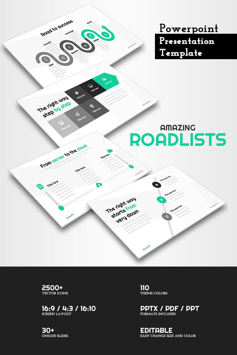 Amazing Road Lines - Presentation PowerPoint sablon 65789
