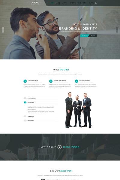 Apoa - Business WordPress Theme #65742