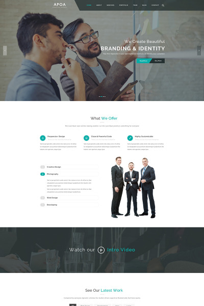 Apoa - Plantilla WordPress para Sitio de Empresa #65742
