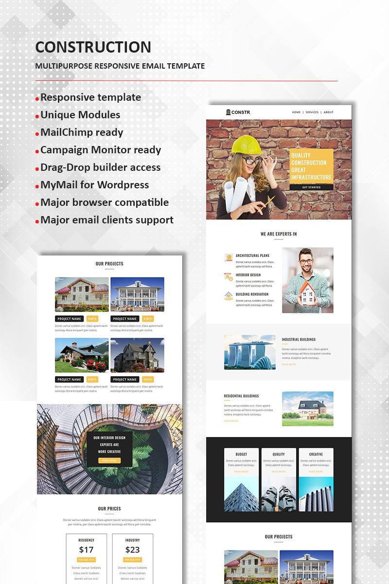 Construction   Multipurpose Responsive