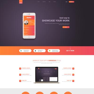Dasho app showcase app store psd template 65756 business psd template wajeb Choice Image