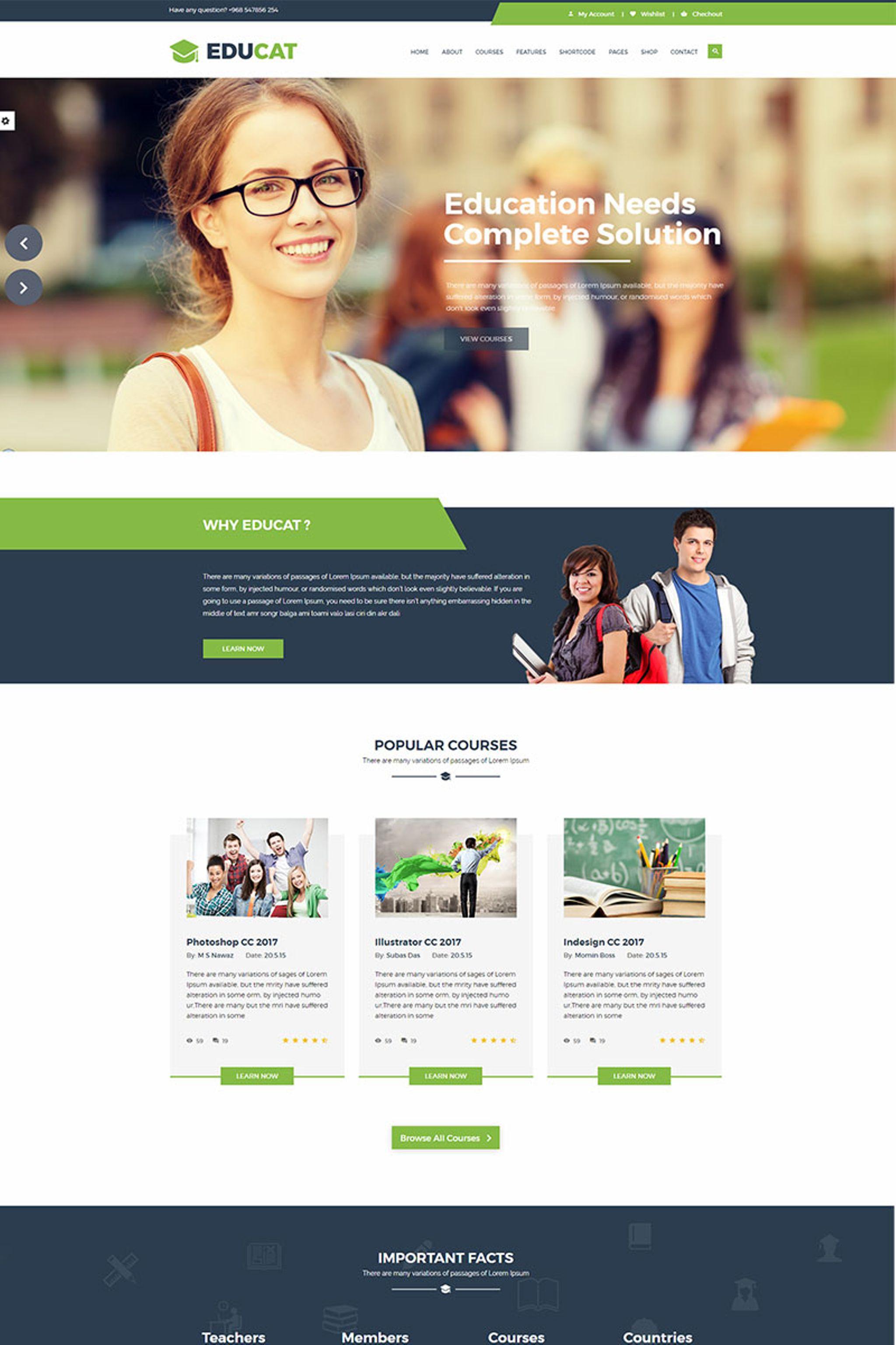 Educat - Education Website Template - screenshot