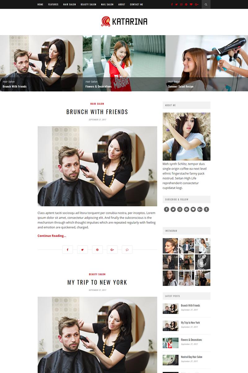 Katarina - Hair Salon Blog WordPress Theme - screenshot