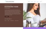 NF Book Worm - FullScreen Book Authors WordPress sablon