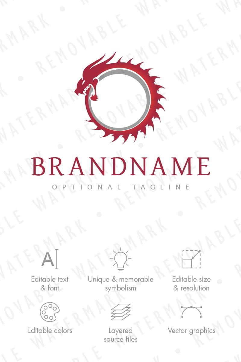 ouroboros dragon logo template  65760
