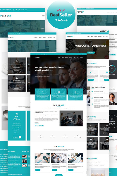 Perfect Corporate WordPress Theme #65710