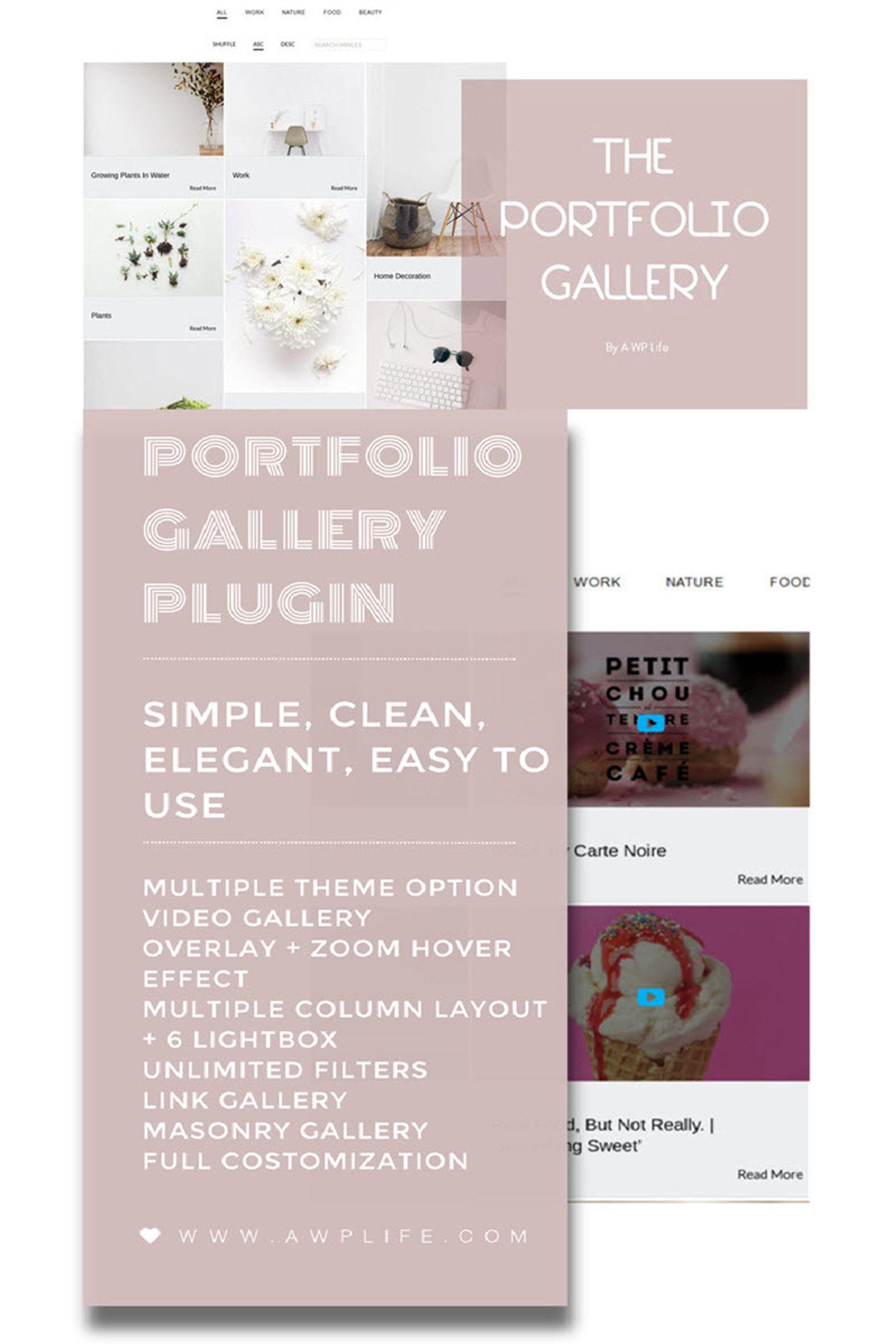 Demo Preview for Portfolio Gallery WordPress Plugin #65755