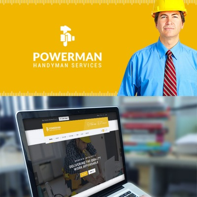 Powerman - Handyman Services WordPress Theme #65725