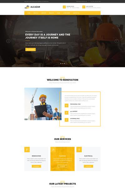 Responsywny motyw WordPress #65728 na temat: firma budowlana #65728