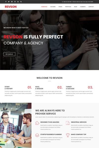 Revson - Çok Amaçlı HTML5 Web Sitesi Teması  #65765