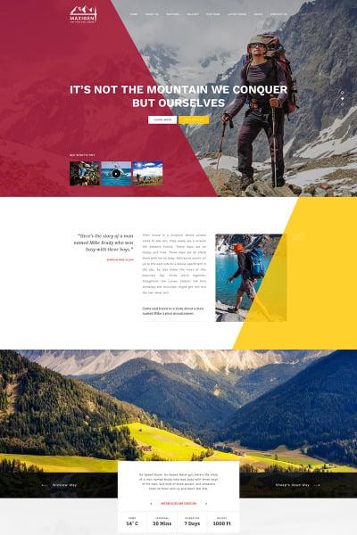 Tema de WordPress para Sitio de Alpinismo #65768