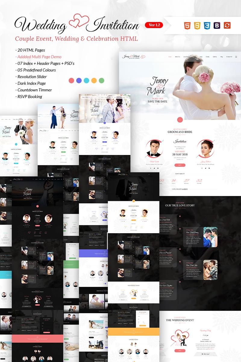 "Tema Siti Web #65727 ""Wedding Invitation - Couple Event & Celebration"""