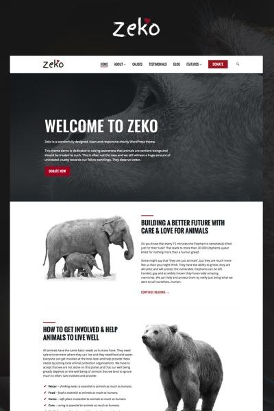 Template WordPress Responsive #65788 per Un Sito di Animali e Cuccioli #65788