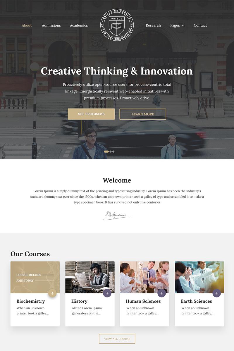 Unisco - Education, School, College & University WordPress Theme - screenshot