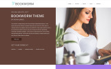 "WordPress motiv ""NF Book Worm - FullScreen Book Authors"""