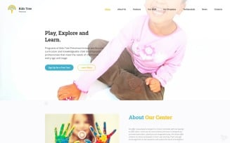 Kids Tree Preschool Landing Page Template