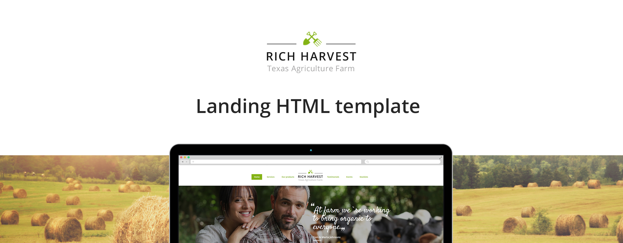 Rich Harvest - Agriculture And Farming Landing Page Template
