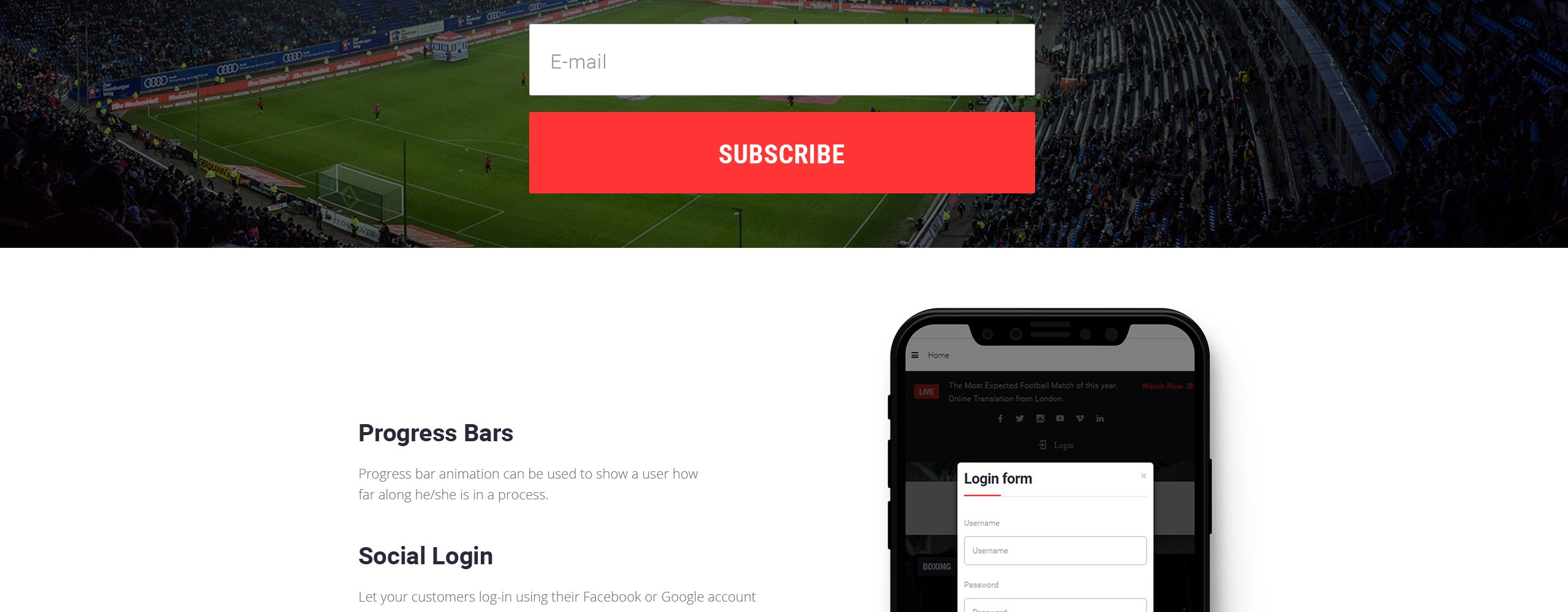 Sport Events - Sports News Joomla Template