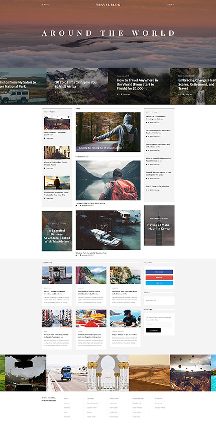 TravelBlog - Travel Guide Joomla Template 3