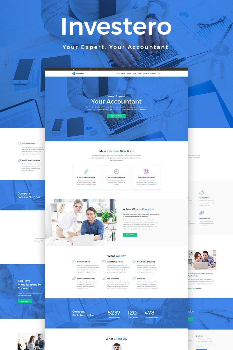 website template 65854 accounting bookkeeping consultancy custom