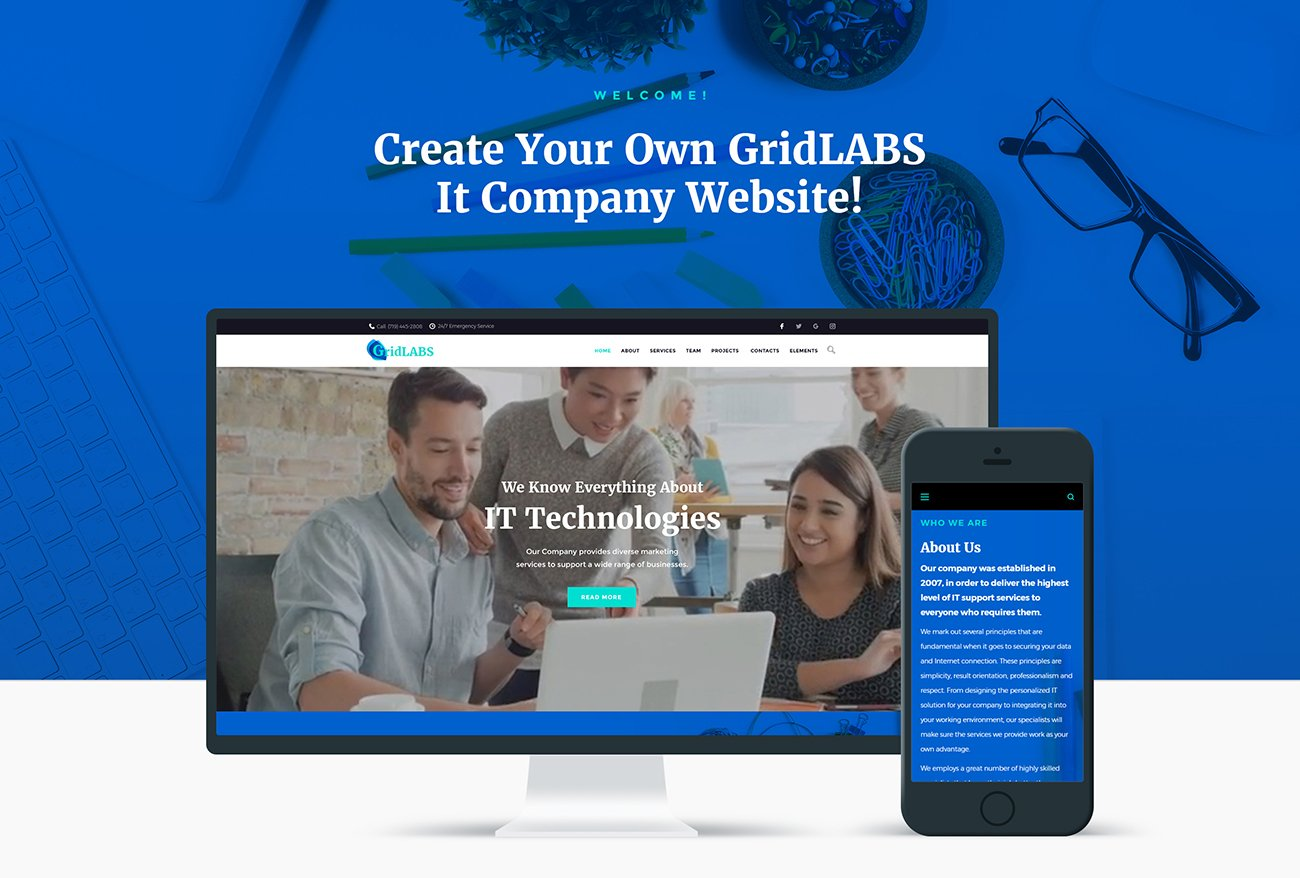 Image result for gridlabs wordpress theme